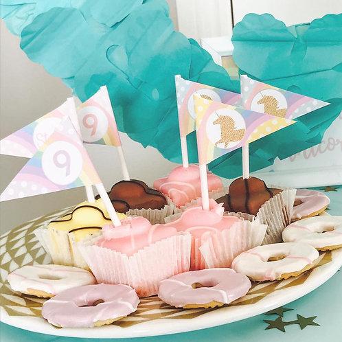 Unicorn Cupcake Toppers