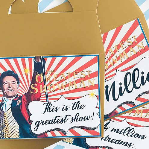 Greatest Showman Food Boxes