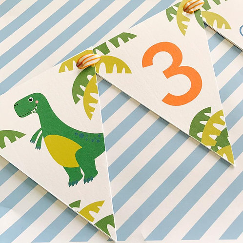 Dinky Dino Party Bunting