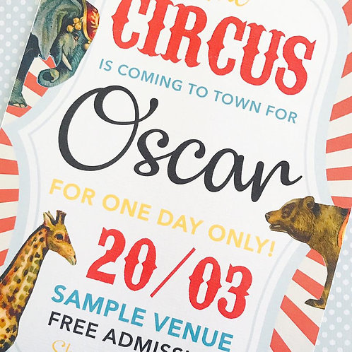 Circus Party Sign