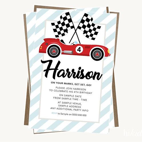 Racing Car Invitations