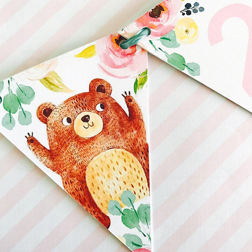 Teddy Bears Picnic Party Bunting (girl)