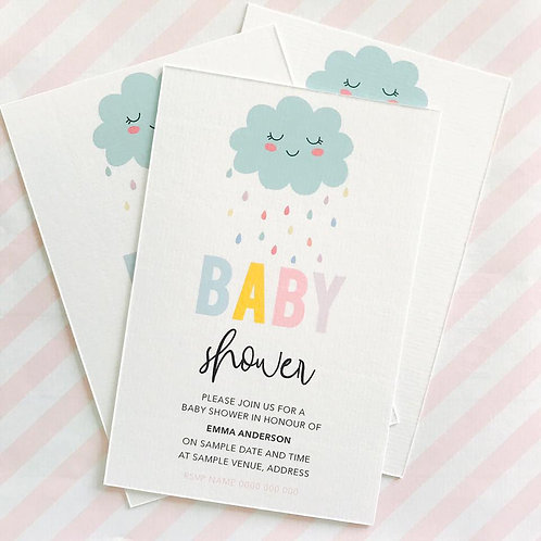 Cloud Baby Shower Invitations