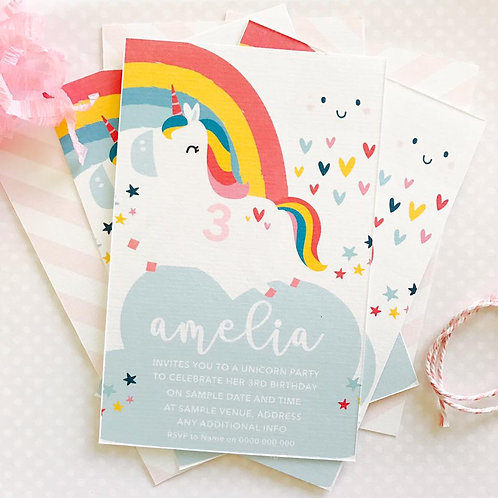 Unicorn Party Invitations