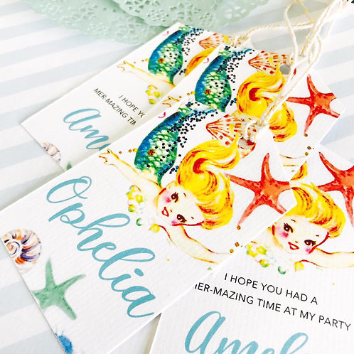Mermaid Party Tags