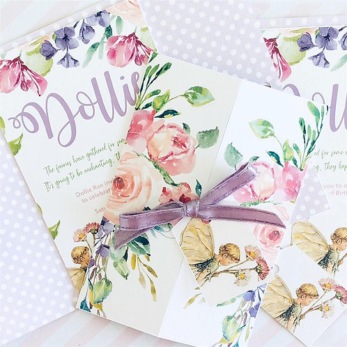 Flower Fairy Deluxe Invitations