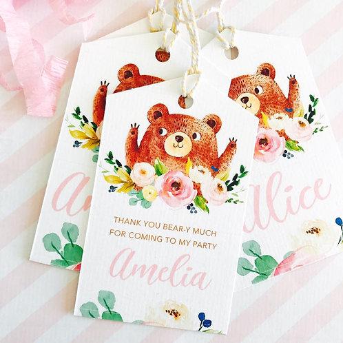 Teddy Bears Picnic Tags (girl)