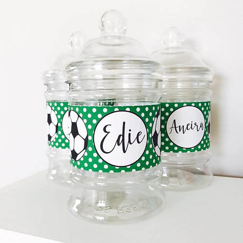 Football Party Sweet Jars
