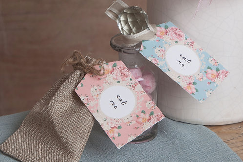 Alice in Wonderland Tags (with ribbon tie)