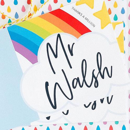 Rainbow Thank You Teacher Card