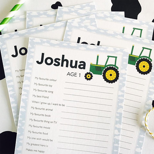 Tractor Question Cards