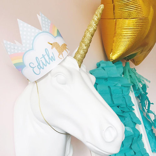 Unicorn Party Crowns