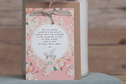 Alice in Wonderland Invitations (with key)