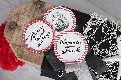 Pirate Rosette Decorations