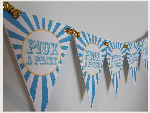Pick a Prize Party Bunting (boy)