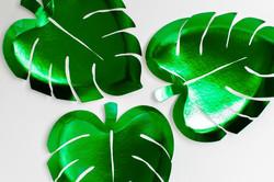 Tropical leaf plates