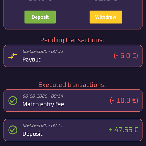 Manage your wallet