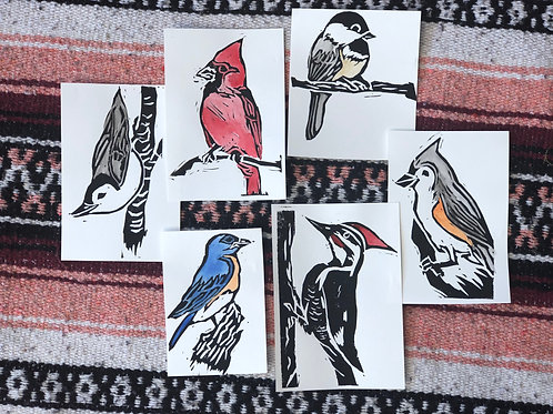 Relief Printed Birding Cards