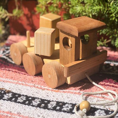 Wooden Mechanical Train