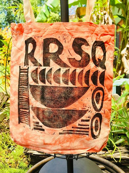 Reusable Railroad Square Shopping Bag