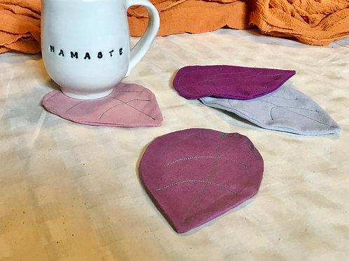 Fabric Leaf Coasters