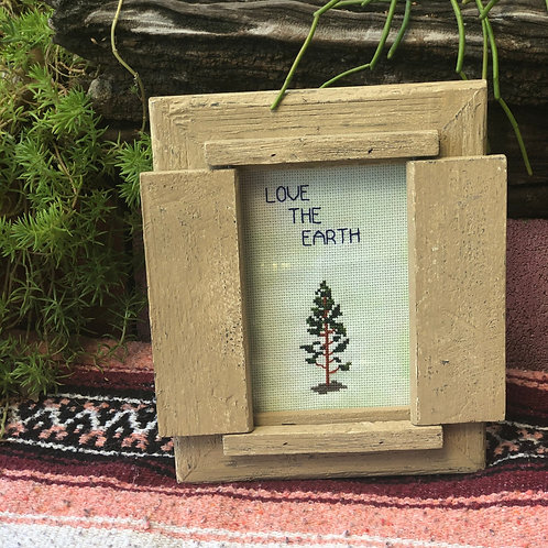 Love the Earth Cross Stitch
