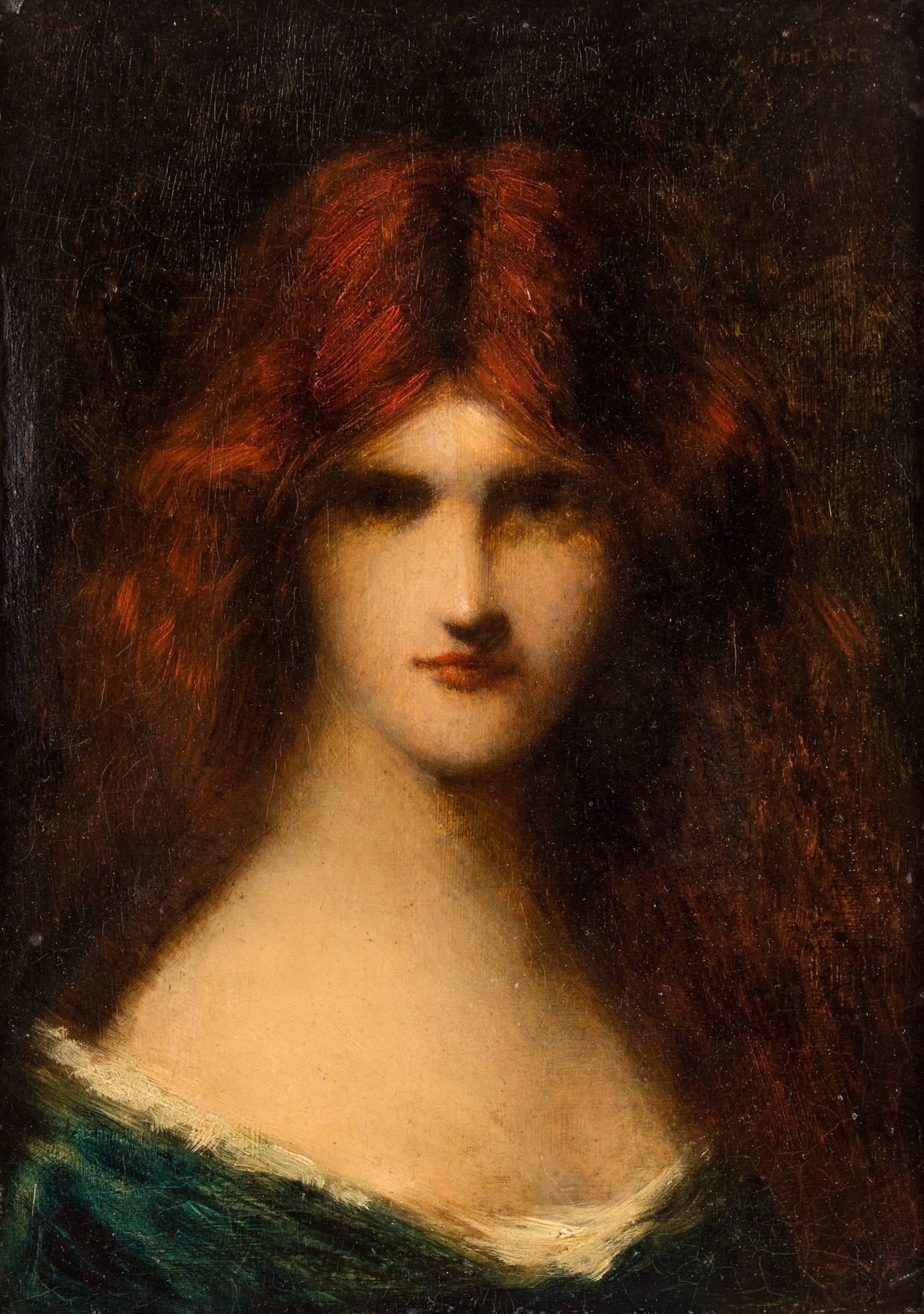 henner portrait femme rousse