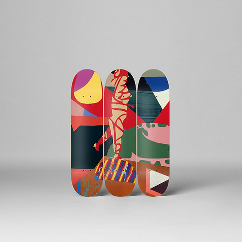 """STROLLING ASTRONOMER"" Skateboard Deck Triptych LTD EDITION"