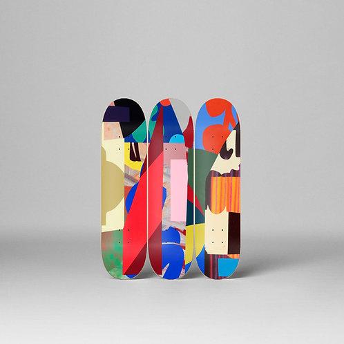 """""""AIRWAVES"""" Skateboard Deck Triptych LTD EDITION"""