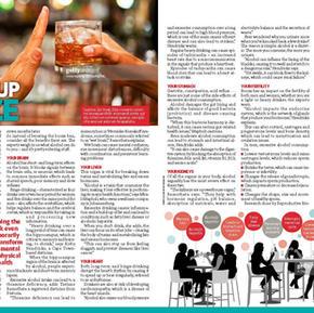 YOU Magazine Article: Giving up booze (January 2021)