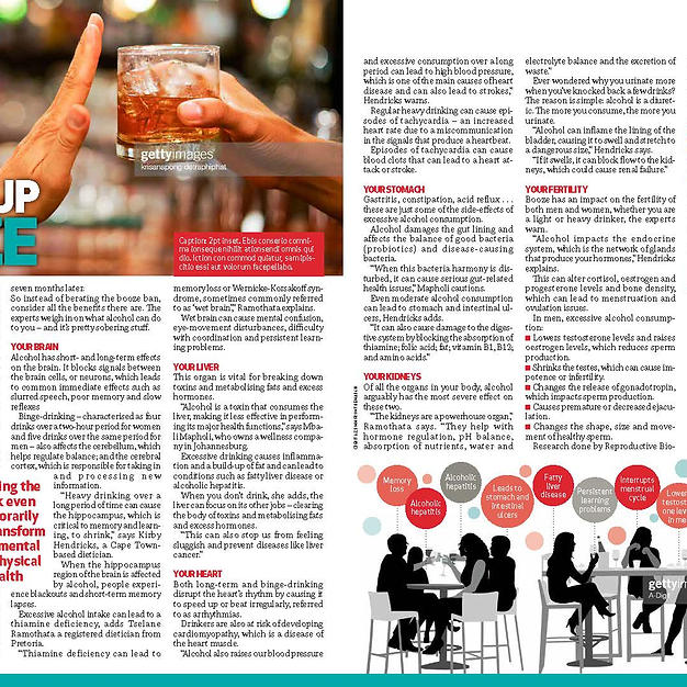 YOU Magazine Article: Giving up booze (January 2021)
