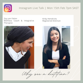 IGTV: Why see a Dietitian