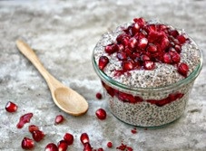 Pomegranate Chia Seed Pudding