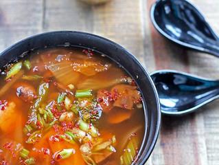 Napa Cabbage Kimchi Soup