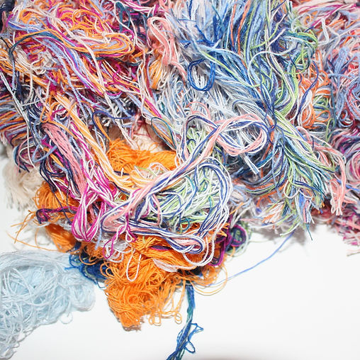 yarn ends from colour changes