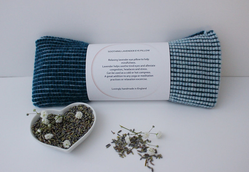 Soothing Lavender Eye Pillow in teal