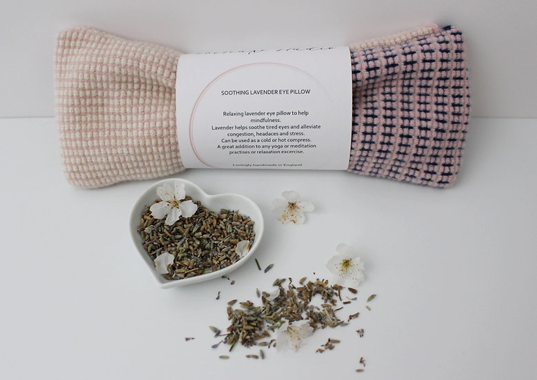Soothing Lavender Eye Pillow in ivory