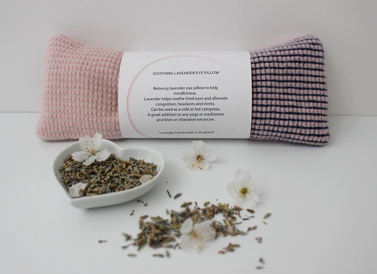 Soothing Lavender Eye Pillow in pink