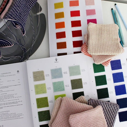 Geelong Lambswool colour swatches from S