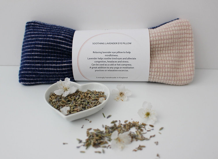 Soothing Lavender Eye Pillow in navy