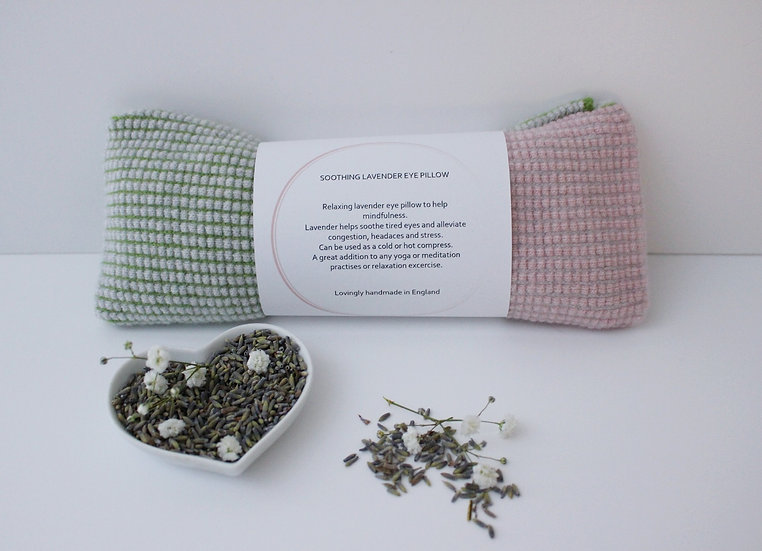 Soothing Lavender Eye Pillow in green