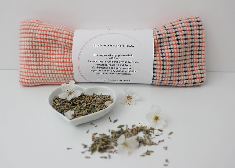 Soothing Lavender Eye Pillow in coral