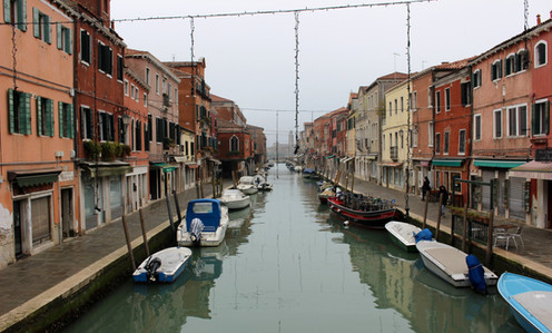 Murano in foggy weather