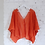 Thumbnail: Lace Kimono Wrap Top in tangerine
