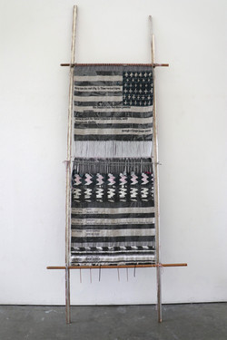 Loom with Textile (After Juanita)