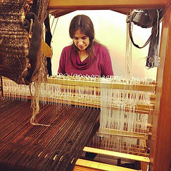 Kira Dominguez Hultgren at the Loom