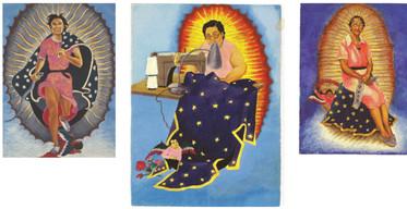 "Yolanda López, ""The Guadalupe Series"" 1968-1978  Source: https://www.lasmaestrascenter.ucsb.edu/yolanda-lopez-1"
