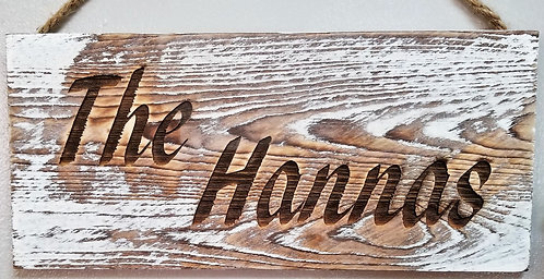 Personalized Family Name Reclaimed Wood Signs