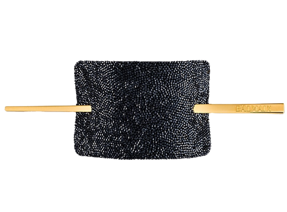 BALMAIN CRYSTAL BLACK SWAROWSKI HAIR BARRETTE LIMITED EDITION