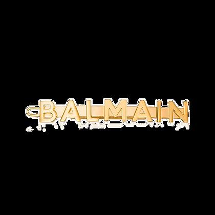 BALMAIN GOLD LOGO HAIR SLIDE SS20